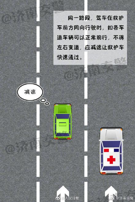 《转给更多人!避让救护车等特种车辆正确示范》